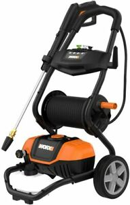 WORX WG604 1600 Max PSI 13A Pressure Washer with Rolling Cart Black and Orange  $156.00