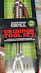 Backyard Grill Gridiron Tool Set Stainless Steel - Sports Series Football