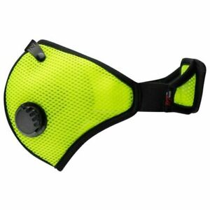 RZ MASK M2  MEDIUM, SAFETY GREEN with two F1 replacement FILTERS