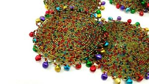 Coasters Table Decoration Wired Beaded Multi Color Retro Home Made Lot of 7
