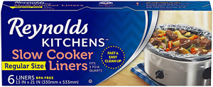 Slow Cooker Liners Kitchen Chef Recipes Crock Pot Cook Liner Bags,13x21