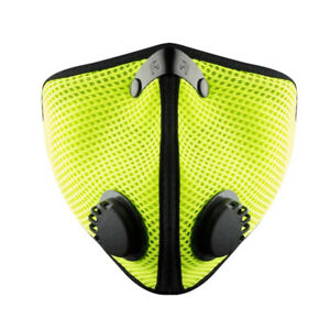RZ MASK M2  Large, SAFETY GREEN with two F1 replacement FILTERS