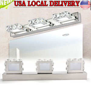 Modern Crystal LED Mirror Front Light Make-up Wall Lamp Fixtures Bathroom Light