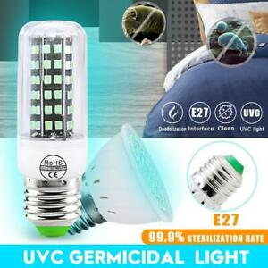 E27 2385 SMD LED Sterilize 250nm UV C Light Germicidal UV Bulb Lamp Disinfection $7.99
