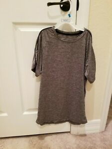 Gray Champion Dry Fit Short sleeve T Shirt Boys Size Large 12 14 $5.99