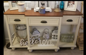 Buffet Table Wood Console Drawers Storage Dining Server Sideboard Rustic Country