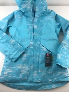 NWT Under Armour Navigate Womens Baby Blue Ski Snow Waterproof Coat Size Small $120.00