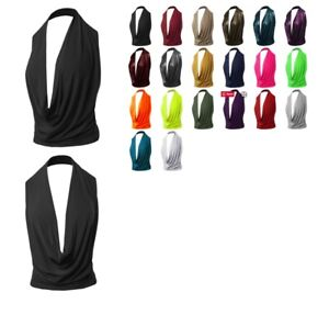 FashionOutfit Women#x27;s Sexy Halter Neck Backless Party Cocktail Top