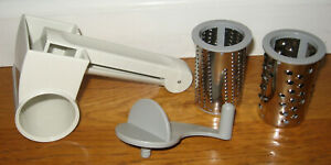 Pampered Chef Hand Held Rotary Grater Cheese Shredder w/ 2 Graters