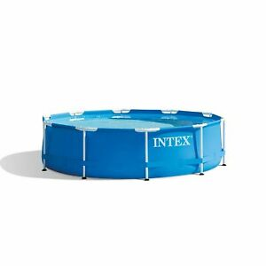 Intex 10ft x 30in Metal Frame Above Ground Pool, No Pump, SHIPS TODAY