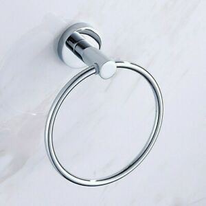 Stainless Steel Towel Rings Wall Mounted Bathroom Round Hand Rack Holder Quality