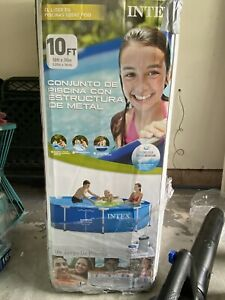 Intex 10 X 30 Metal Frame Swimming Pool with 330 GPH Pump SHIPS TODAY!!!