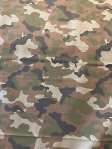 CAMOUFLAGE Classic Camo 100% Cotton Fabric by the Half Yard