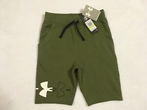 New With Tags Boys Kids Under Armour Olive Green Shorts Size Youth Medium NWT $17.95
