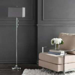 Chrome Rectangle 60-inch Rotary Switch Crystal Floor Lamp