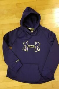 Girls Under Armour ColdGear Hooded Sweatshirt Youth XL Loose Fit $9.99