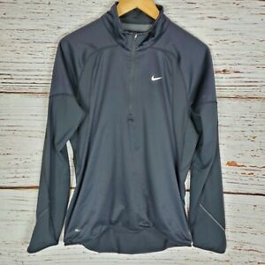 Nike Fit Mens Size Small Black Fitted Pullover Jacket Running Athletic Shirt $14.99