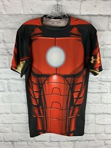 Under Armour Compression Heat Gear Marvel Iron Man shirt size men's medium $20.00