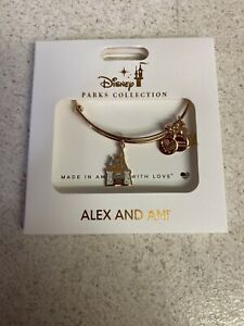 Disney Parks ALEX amp; ANI bracelet Disneyland CASTLE color Gold tone NEW $35.00