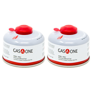 GasOne Camping Fuel Blend Isobutane Fuel Canister 100g 2 Pack