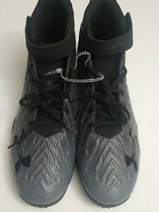 Under Armour baseball shoes Size 12.5. Color Black and Grey $25.00