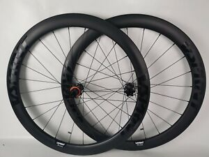 Disc Brake Wheels Carbon 50mm Tubeless Road Bike Disc Brake Wheelset Thru Axle $499.00