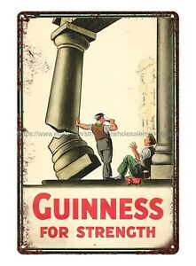 Guinness for Strength Guiness beer beer brew shop metal tin sign luxury home