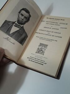 1913 Gettysburg Speech And Other Papers Lincoln Book $35.00