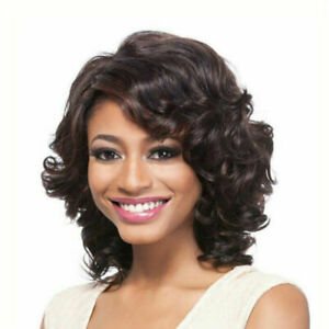 Dark Brown Short Curly Wigs Fashion Sexy Charm Party Cosplay Wig For Black Women