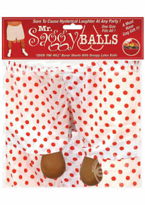Mr. Saggy Balls New novelty underwear bachelor fun costume party gag gift prank