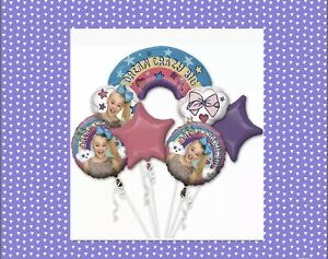 JoJo Siwa Balloon Bouquet Girls Birthday Helium Mylar Decorations 5pc $9.90