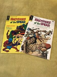 Dell Gold Key Comic Book Lot: Brothers of the Spear 1 amp; 2
