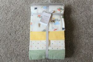 Carter#x27;s Baby Infant Boy Camping Striped 4 Pack Receiving Blankets Flannel NWT