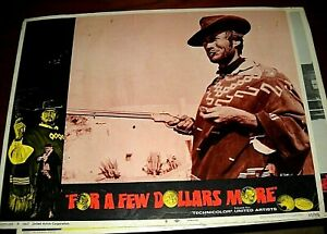 Original 1967 quot;For A Few Dollars 11 X 14 Lobby card set * cards all in good VG