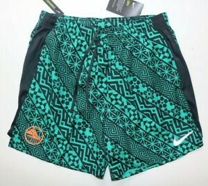 NIKE CHALLENGER MEN RUNNING 7 2IN1 DRI FIT GRAPHIC SHORTS GREEN CT5210 370 M L $45.67