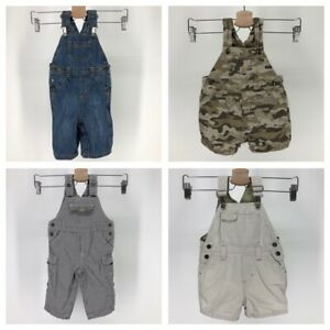 Overalls 6 12 Months Lot of 4 Carhartt Camouflage Old Navy Denim One Piece