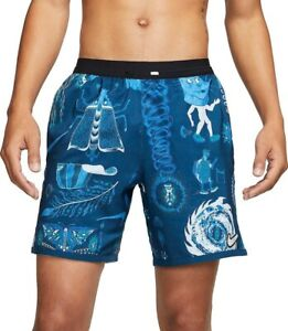 Nike Flex 7 Wild Run Running Shorts Blue Graphic M Medium CJ5816 432 tokyo $65.00