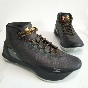Under Armour Steph Curry 3 Basketball Sneakers Shoes Black Size Boys 6Y 1274061 $49.99