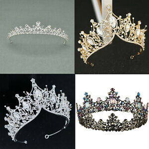 Baroque Pageant Queen Bridal Wedding Prom Tiara Crown Hair Accessories Headband $22.99