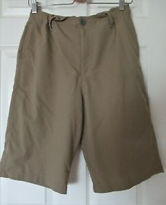 Under Armour HeatGear Golf Shorts Size YXL Boys Youth Extra Large Khaki $14.00