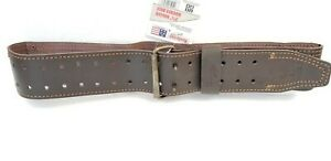 2.75 inch Oil Tanned Leather Roller Buckle Work belt for waist tool bag pouch