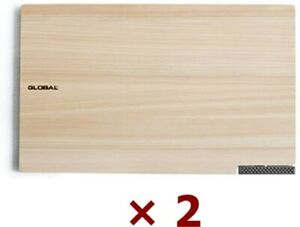 GLOBAL Cutting Board w/Stand MIJ Cypress Hinoki Chamaecyparis obtusa Set of 2