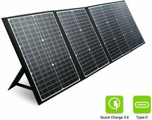 120W 18V Camping Home Portable Folding Solar Panel Battery Power Backup Supply