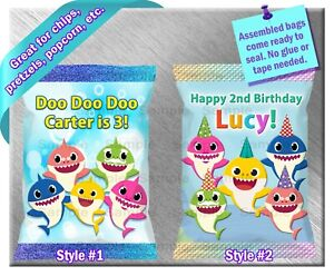 Baby Shark ~ Chip / Treat / Snack Bags ~ Birthday Party Baby Shower