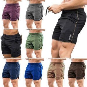 Mens Fitness Sport Shorts Football Pants Dry Fit Gym Workout Training Running $14.99