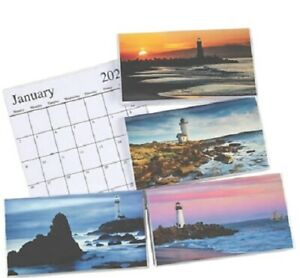 2021 2022 Lighthouse 2 Year Planner Pocket Calendar *FREE SHIPPING* $2.55