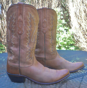 OLD WEST Leather Western Boots Snip Toe LF1529 Antique Distressd Cowboy Women 10 $25.00