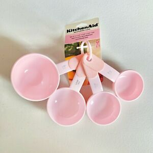 KitchenAid Pink Cook for the Cure Measuring Cups Set of 4 Susan G. Komen