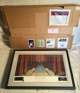 STAR WARS Limited Ralph McQuarrie signed Lithograph REBEL CEREMONY BOX 1222500 $424.99