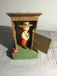 VINTAGE The Out-House ~ Gag Gift ~ Novelty ~ Boy Peeing